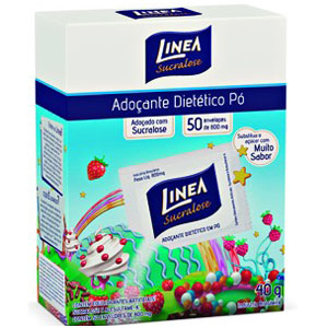 Adoçante Dietético em Pó - Linea - 50 Envelopes 0,8g-0