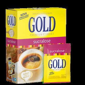 Adoçante Dietético Sucralose em Pó - Gold - 50 Envelopes 0,6g-0