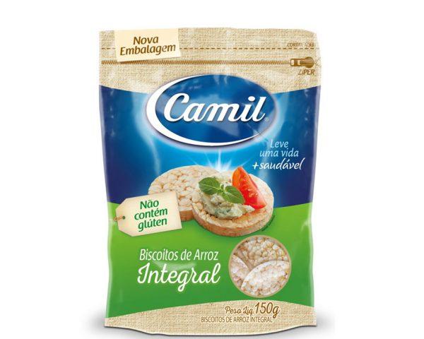 Biscoito de Arroz Integral - Camil - 150g-0