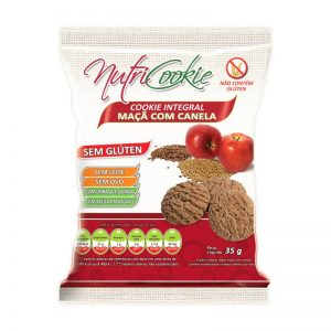 Cookies Integral Maça c/ Canela s/Leite s/Ovos s/Gluten- Nutricookie-0