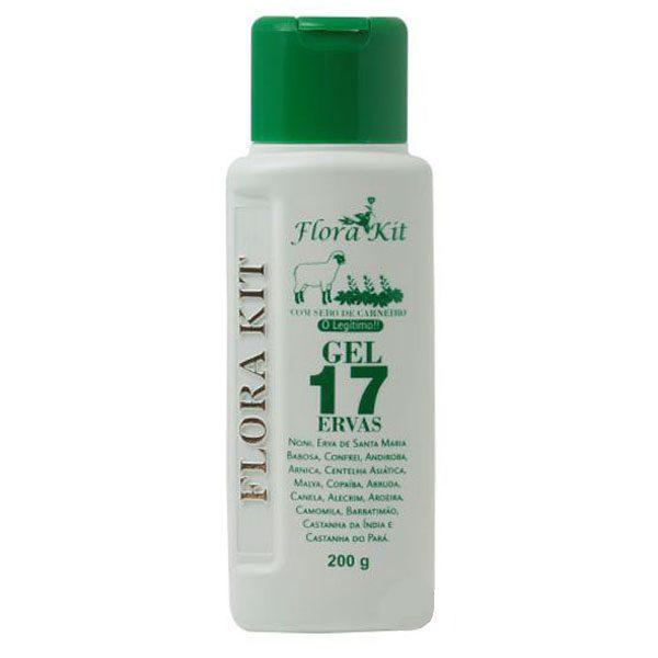 Gel Massageador 17 Ervas - Embalagem 200gr - Kit Florais (Com sebo de Carneiro)